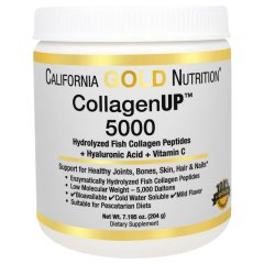 Рыбий Коллаген + Гиалуроновая кислота (California Gold Nutrition, CollagenUP 5000), 204 г