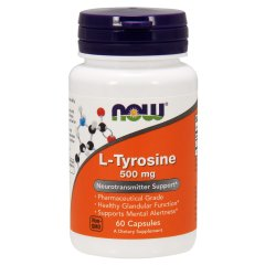 L-Тирозин (Now Foods, L-Tyrosine), 500 мг, 60 капсул