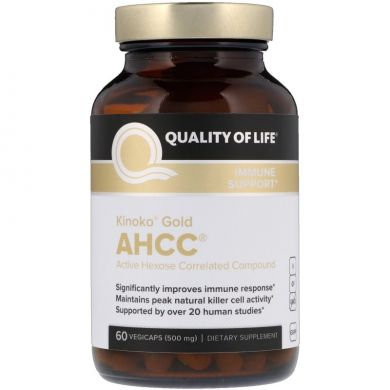 AHCC (Gold AHCC, Immune Support), 500 мг, 60 капсул
