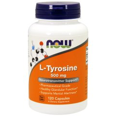 L-Тирозин (Now Foods, L-Tyrosine), 500 мг, 120 капсул