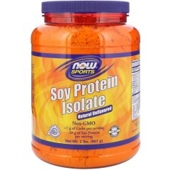 Изолят соевого протеина, безвкусный (Now Foods, Sports, Soy Protein Isolate, Natural Unflavored), 907 г