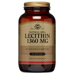 Лецитин соевый (Solgar, Natural Soya Lecithin), 1360 мг, 100 капсул
