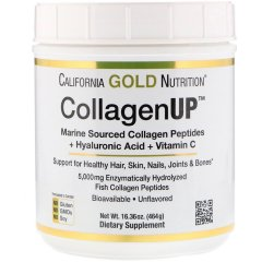 Рыбий Коллаген + Гиалуроновая кислота (California Gold Nutrition, CollagenUP 5000), 464 г