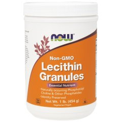 Лецитин в гранулах (Now Foods, Lecithin Granules), 454 гр