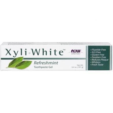 Зубная паста XyliWhite с мятой (Now Foods, Solutions, XyliWhite, Toothpaste Gel, Refreshmint), 181 г
