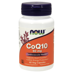 Коэнзим Q10 (Now Foods, CoQ10), 60 mg, 60 вегетарианских капсул