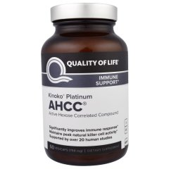 AHCC (Quality of Life Labs, Platinum AHCC, Immune Support) 750 мг, 60 капсул