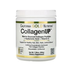 Рыбий Коллаген + Гиалуроновая кислота (California Gold Nutrition, CollagenUP), 206 г