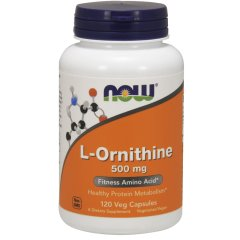 L-Орнитин (Now Foods, L-Ornithine), 500 мг, 120 капсул