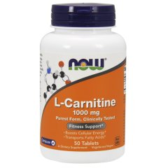 L-Карнитин (Now Foods, L-Carnitine) 1000мг, 50 таблеток