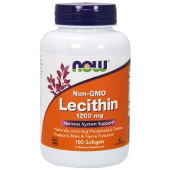Лецитин (Now Foods, Lecithin), 1200 мг, 100 капсул